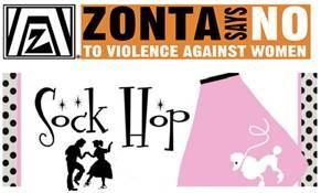 Zonta Sock Hop Logo